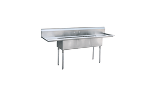 Atosa MRSA-3-D Three Compartment Sink - Summit Restaurant Supply