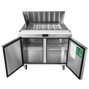 "Atosa MSF8306 48"" Mega Top Sandwich Prep Table"