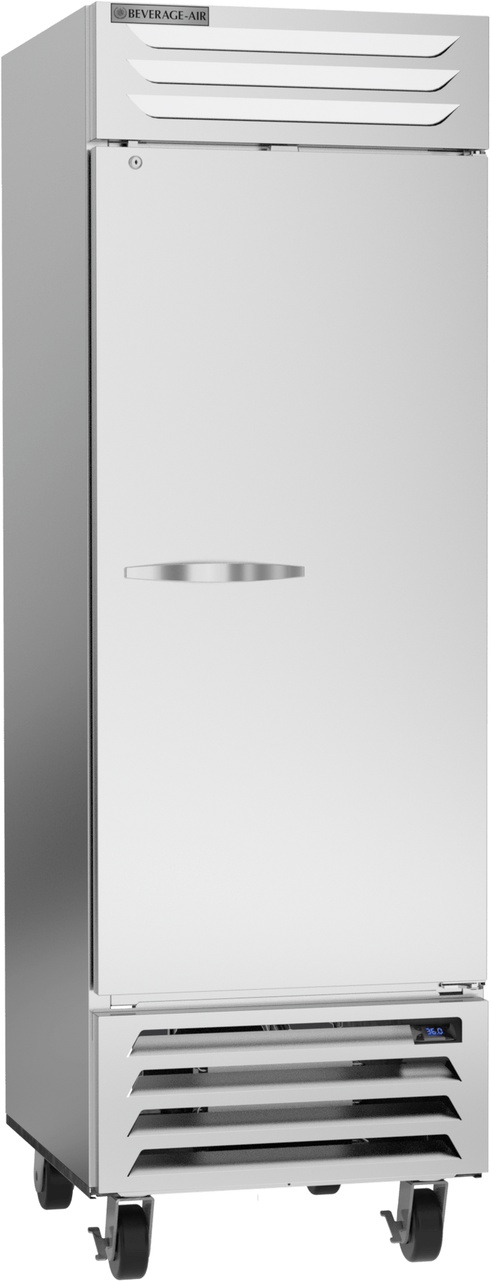 "Beverage Air RB23HC-1S 27"" Vista Series Solid Door Reach in Refrigerator - 23 Cu. Ft."