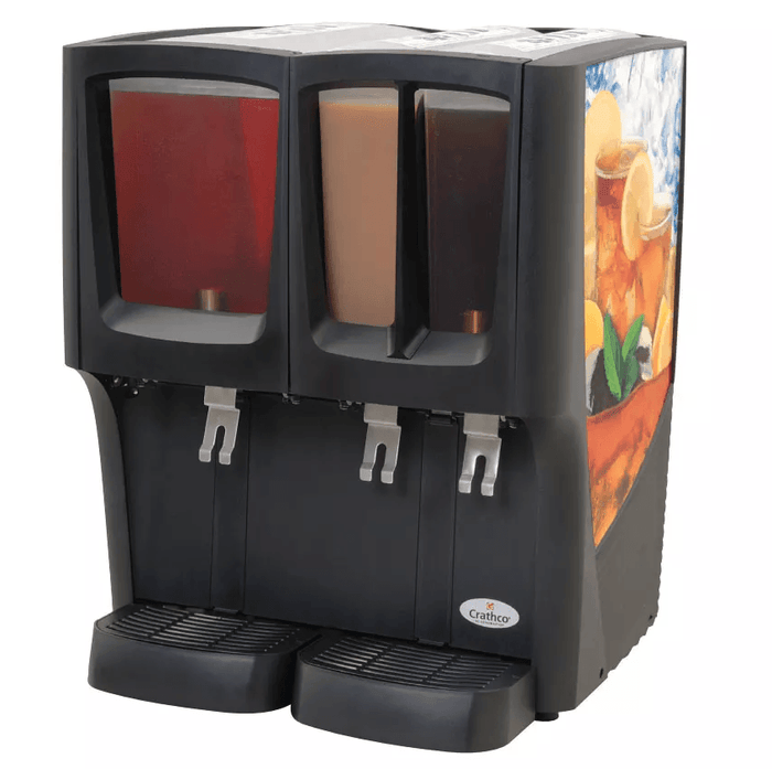 Crathco C-3D-16 Refrigerated Drink Dispenser w/ (1) 5gal & (2) 2 2/5gal Bowls, Pre Mix