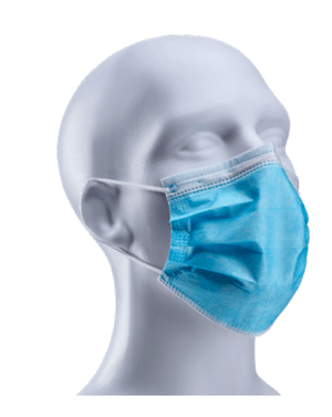 Karat PPE-2500-SS Face Mask 3-Ply (Box of 50)