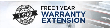 Free One Year Warranty Extension