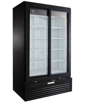 Beverage Air MT49-1-SDB Marketeer™ Series 47 Inch Sliding Door Refrigerated Merchandiser - Summit Restaurant Supply