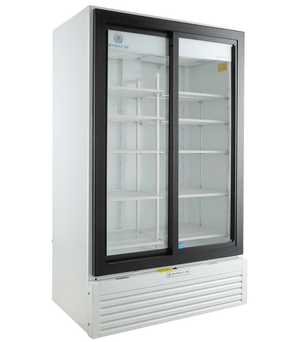 Beverage Air MT49-1-SDW Marketeer™ Series 47 Inch Sliding Door Refrigerated Merchandiser - Summit Restaurant Supply