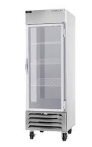 "Beverage Air HBR23HC-1-G  Horizon Series 27"" Stainless Steel Refrigerator Glass Door"