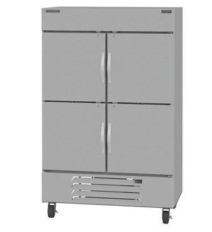"Beverage Air HBR49-1-HS Horizon Series 52"" Stainless Steel Refrigerator Half Door model"