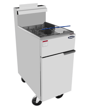 Atosa ATFS-40  40 lb. Stainless Steel Commercial Deep Fryer - Summit Restaurant Supply