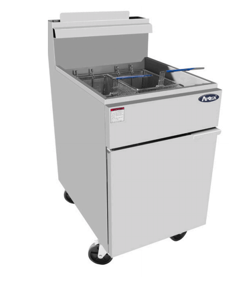 Atosa ATFS-75 HD 75lb Stainless Steel Commercial Deep Fryer