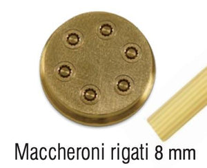 Maccheroni Rigati Pasta Die #77, 8mm - Summit Restaurant Supply