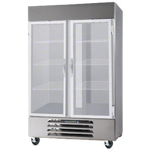 "Beverage Air HBR49HC-1-G  Horizon Series 52"" Stainless Steel Refrigerator Glass Door - Summit Restaurant Supply"