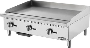 "Atosa ATMG-36 HD 36"" Commercial Countertop Manual Griddle"