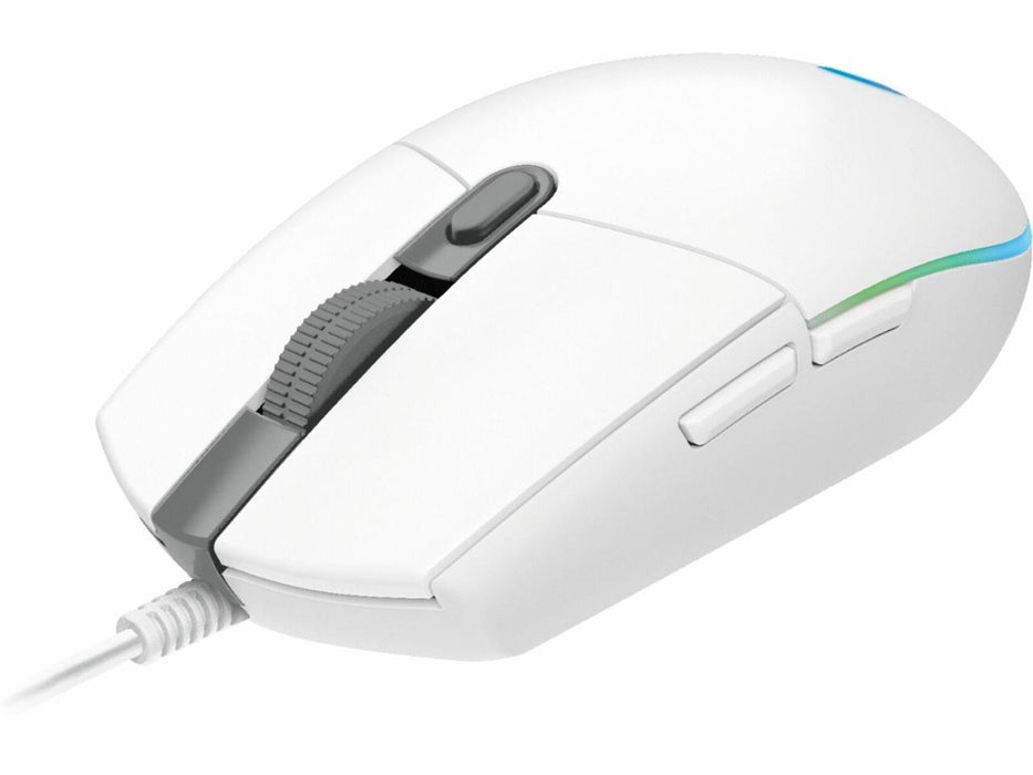 Logitech G102 Lightsync Wired Gaming Mouse - White