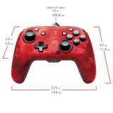 PDP Faceoff Deluxe Wired Pro Controller for Nintendo Switch (Red Camo)