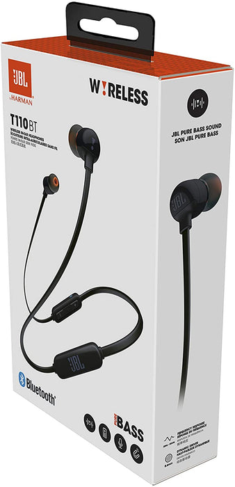 JBL TUNE 110 In-Ear BT Headphone - Black