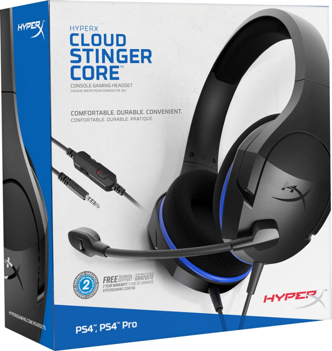 HyperX Cloud Stinger Core Gaming Headset - Blue Black