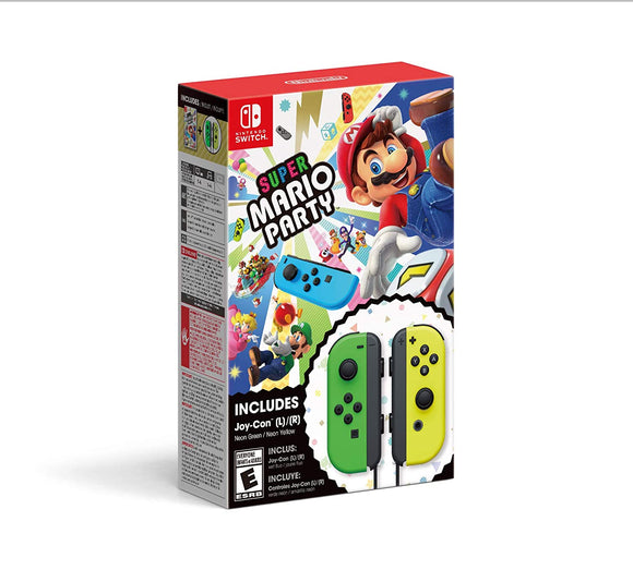 Nintendo Switch Super Mario Party Bundled with Joy-Con L/R Neon Green/ Yellow