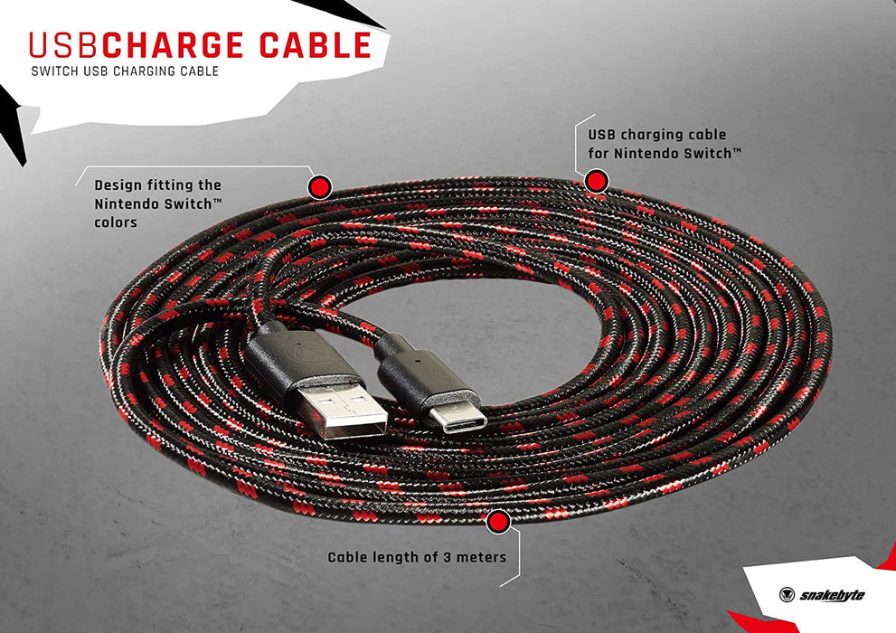 Snakebyte USB Charge Cable for Nintendo Switch