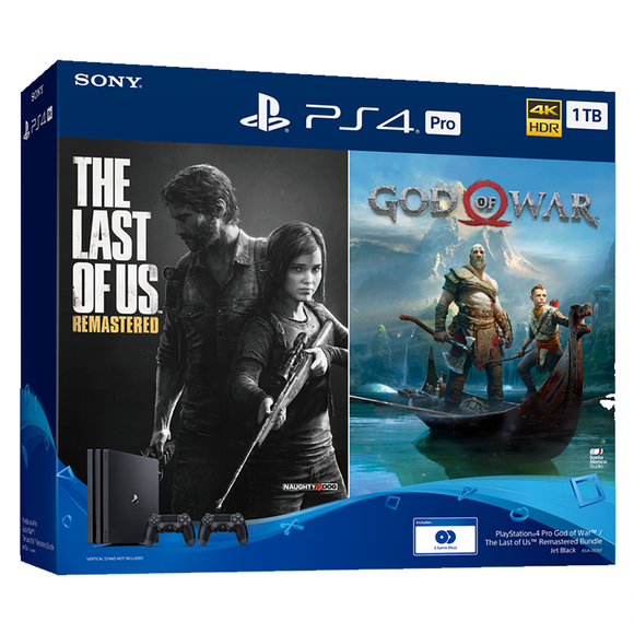 PS4 Console God of War/The Last of Us Pro 1TB Bundle