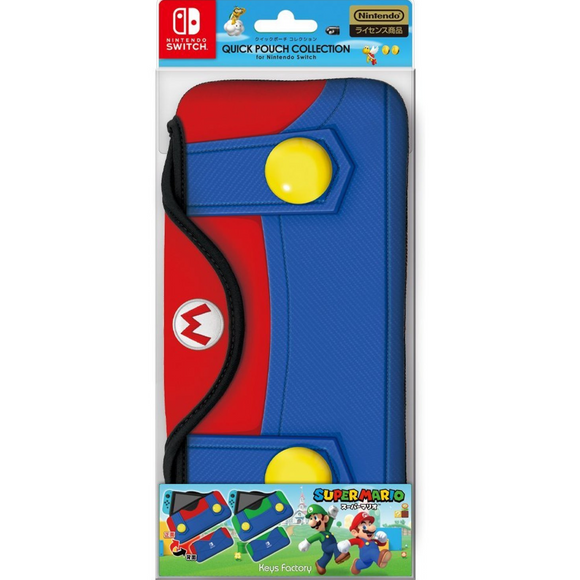 Keys Factory Quick Pouch Mario for Nintendo Switch