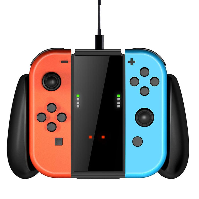 Lucky Fox Joy-Con Charge Grip for Nintendo Switch (Black)