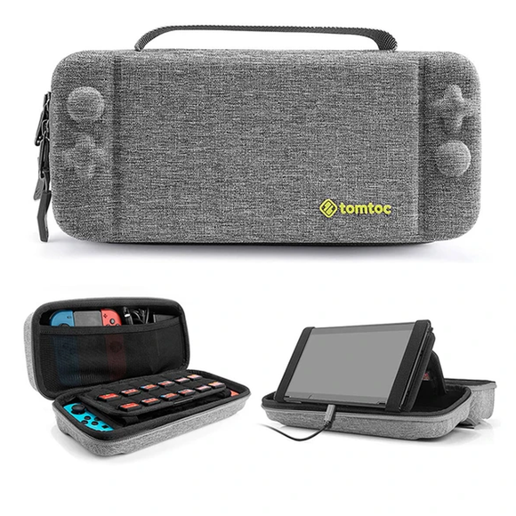 Tomtoc Travel Case for Nintendo Switch - (Gray)