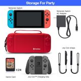 Tomtoc Travel Case for Nintendo Switch - (Red)