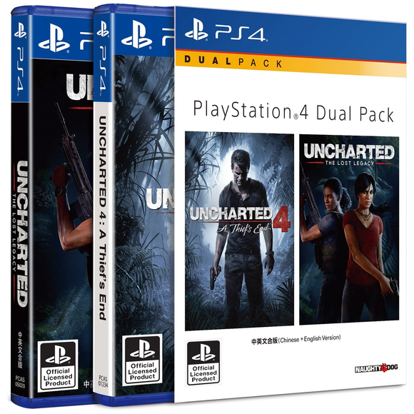 PS4 Dual Pack: Uncharted Double Pack