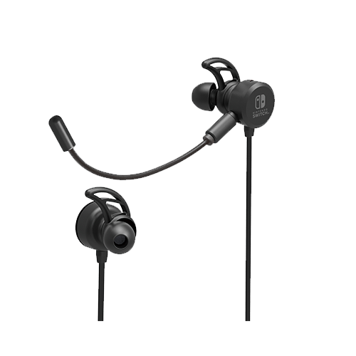 HORI Gaming Headset In-Ear for Nintendo Switch - Black (NSW-198)