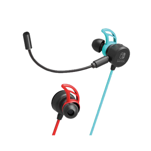 HORI Gaming Headset In-Ear for Nintendo Switch - Neon Blue/Red (NSW-159)