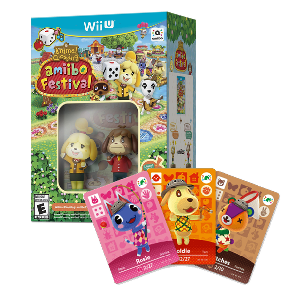 Nintendo Wii U Animal Crossing Amiibo Festival Bundle (include 2 Amiibo & 3 Amiibo Card)