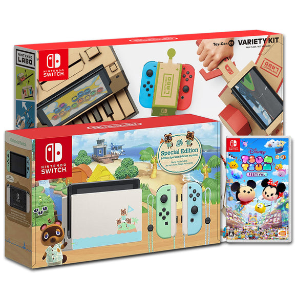 Nintendo Switch Animal Crossing New Horizon Edition Bundle