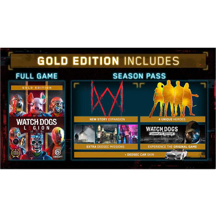 PS4 Watch Dogs Legion Gold Edition (R3)