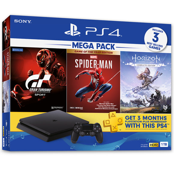 PlayStation 4 Console MEGA PACK 3 1TB Bundle