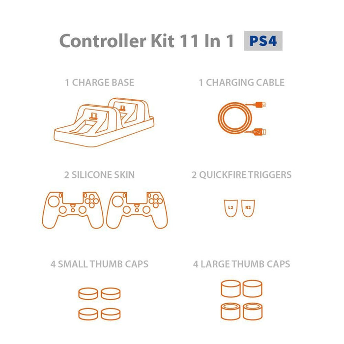Lucky Fox Controller Kit 11 in 1 for PlayStation®4