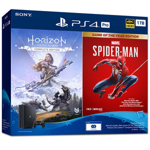 PlayStation 4 Pro 1TB  Marvel's Spider-Man Game Of The Year Edition / Horizon Zero Dawn™ Complete Edition Bundle