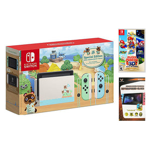 Nintendo Switch Animal Crossing Edition V2 with Nintendo Switch Super Mario 3D All Stars (MDE)