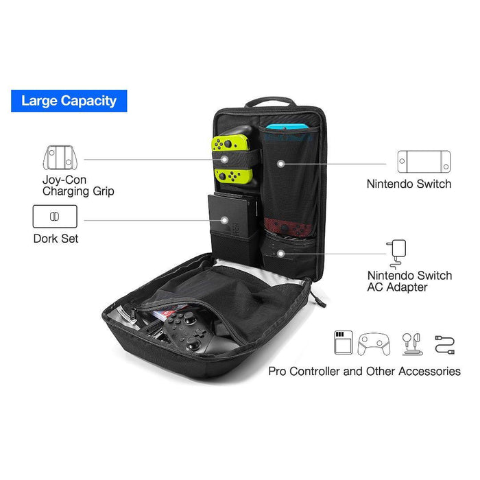 Tomtoc Backpack for Nintendo Switch - (Black)
