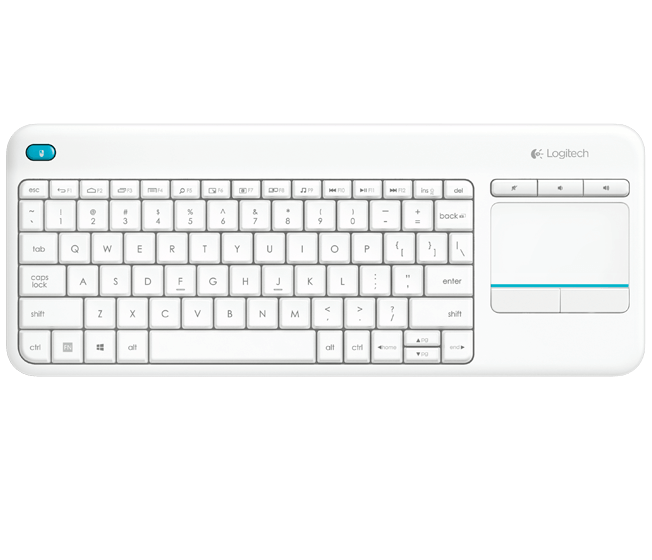 Logitech K400 Plus Wireless Touch Keyboard - White