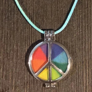 Camp Winnarainbow Peace Pendant