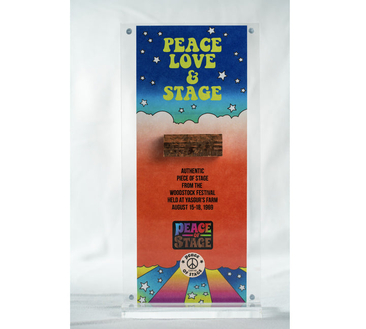 Peace, Love, & Stage Acrylic Stage Frame