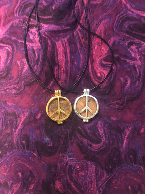 Sterling Silver and Gold Plated Peace Pendants - The Stage - Peace Of Stage LLC - Peace Of Woodstock Stage