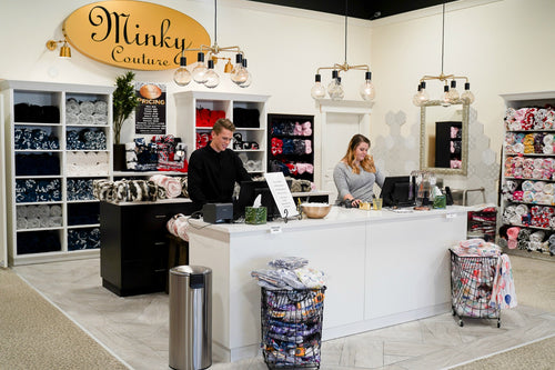 Minky Couture store location in Orem, Utah.