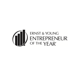 Logo representing the Ernst & Young Entrepreneur of the Year Award earned by Sandi Hendry
