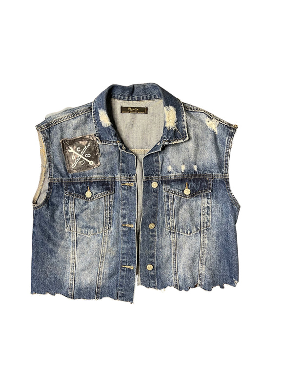 Chop Shop Denim Vest (Large)