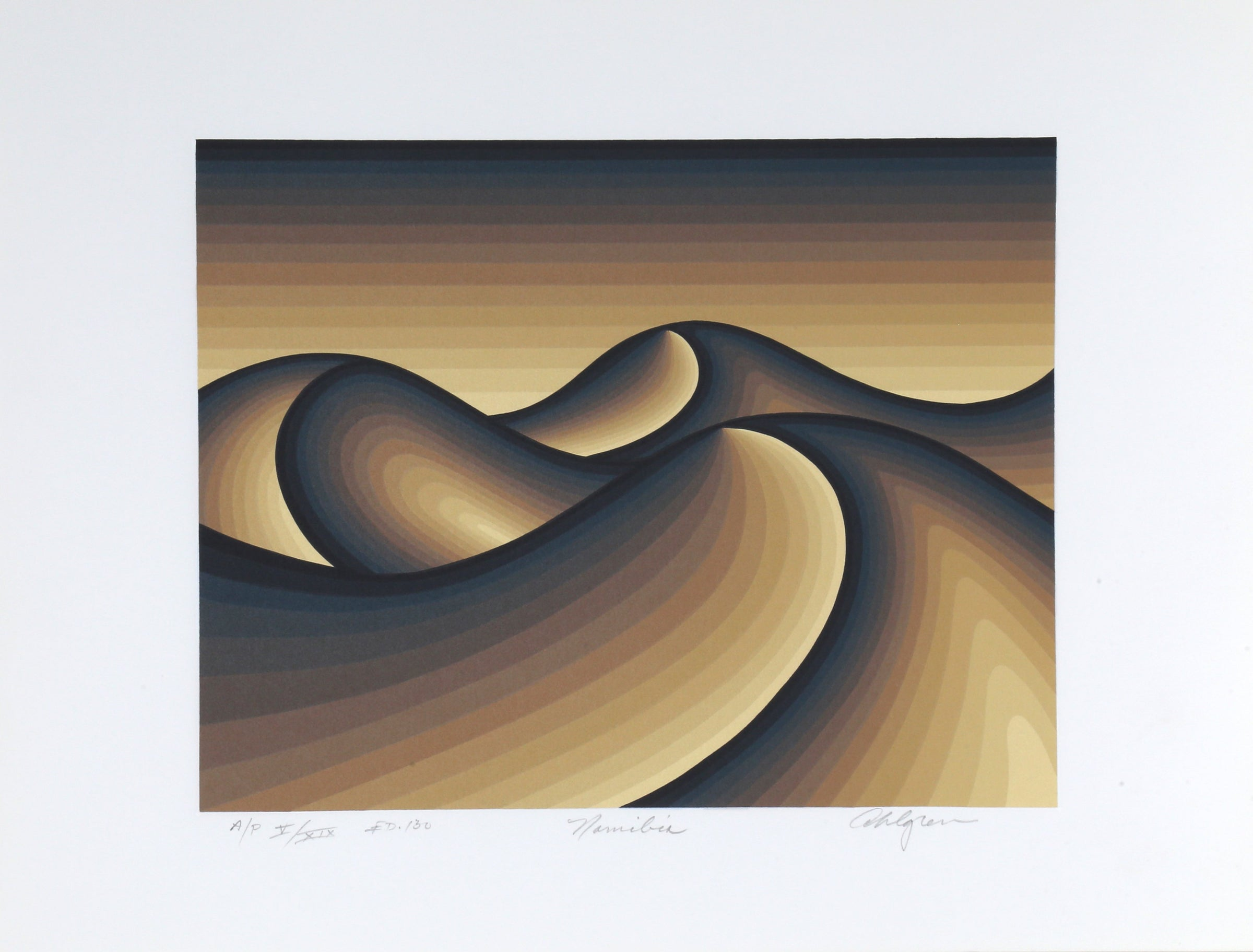 Roy Ahlgren, Namibia Screenprint - RoGallery