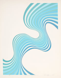 Roy Ahlgren, Sinuous Reverse Screenprint - RoGallery