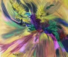 Andree Amarica, Feathers 2 Mixed Media - RoGallery