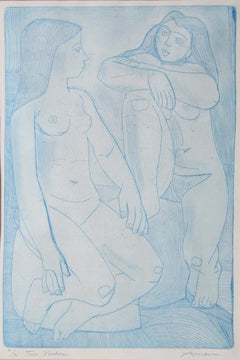 Irving Amen, Two Nudes Etching - RoGallery