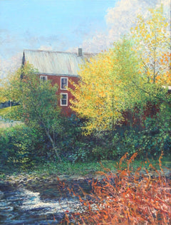 Wally Ames, Vermont Farmhouse Oil - RoGallery