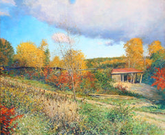 Wally Ames, The Old Sawmill at Westminster, Vermont Oil - RoGallery